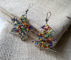 make colorful beaded ornaments crafts craftbits