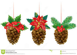 christmas decorations from pine cones stock photos image 34833103