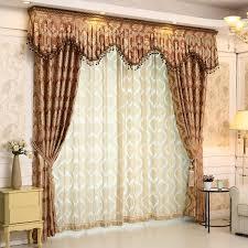 Jacquard Curtain European Romantic Jacquard Curtain Gloden Royal Luxury Curtains