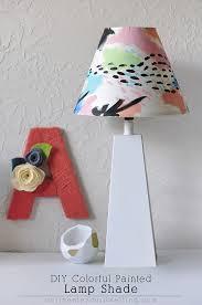 Lamp Shades Diy Diy Colorful Painted Lamp Shade