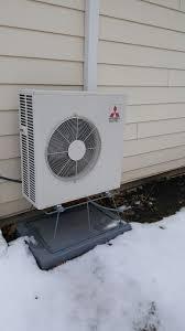 mitsubishi muz fh18na hyper heating heat pump installed by compass