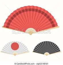 paper fan japan folding fan japanese culture symbol paper fan