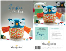 introducing harper the owl print pattern and kit whileshenaps com