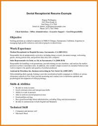Resume Template For Medical Receptionist Dental Receptionist Resume Examples Dental Resume Resume Cv Cover