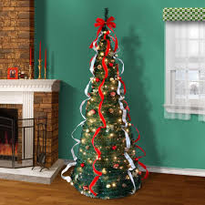 7 ft pre decorated pop up christmas tree christmas lights decoration