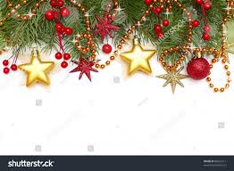 christmas border decoration isolated on white stock photo 89661511