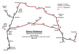 Map Of Ghana Ghana Transport