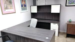 office desk grey office desks modern white bark gray u shaped