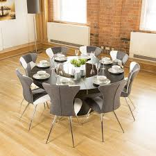 Dining Room Table With Lazy Susan Luxury Large Black Oak Dining Table Lazy Susan 8 Chairs 4173