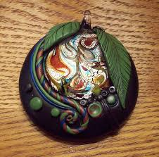 dichroic glass and polymer clay pendant by mandarinmoon on deviantart
