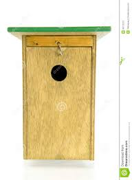 wooden bird house front view stock photo image 36113210
