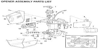 craftsman garage door opener parts diagram wageuzi