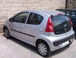 used peugeot 107 file peugeot 107 4door silver hl jpg wikimedia commons