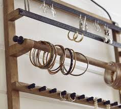 box necklace holder images Pine iron wall mounted jewelry hanger pottery barn jpg