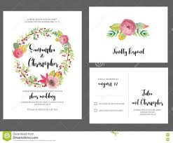 Wedding Invitation Cards Download Free Watercolor Wreath Wedding Invitation Card Stock Vector Image