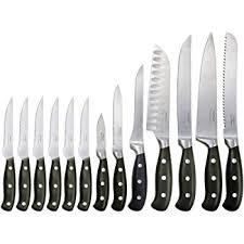 oneida kitchen knives amazon com oneida 14 rivet knife set with