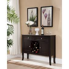 console table with wine storage eric dark cherry wood contemporary wine rack buffet display console