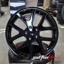dodge ram 1500 wheels and tires 24 viper style gloss black wheels fits dodge ram 1500 2wd 4wd