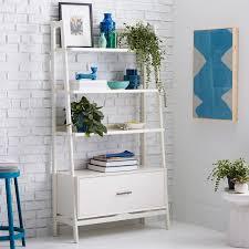 west elm white bookcase mid century 38 bookshelf white west elm