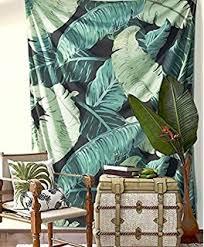 amazon com society6 tropical glam banana leaf print wall tapestry
