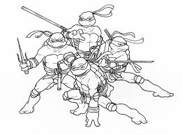 teenage mutant ninja turtles coloring pages ppinews