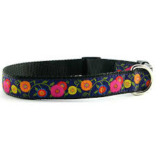 woven ribbon woven ribbon dog collar purple flowers 10057722