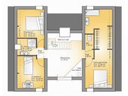 plan maison etage 3 chambres plans de maison 1er étage du modèle concept maison moderne à