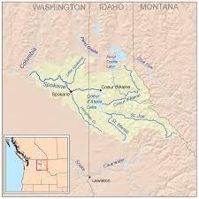 Spokane Wa Map Spokane River Wikipedia