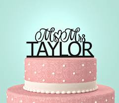 mrs mrs cake topper personalized custom mr mrs wedding cake topper with your last