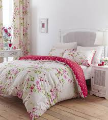 catherine lansfield canterbury double duvet set red amazon co