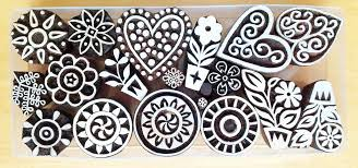 block printing wooden printing blocks crafts supplies