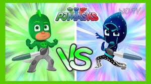 gekko vs night ninja coloring pages duel disney pj masks