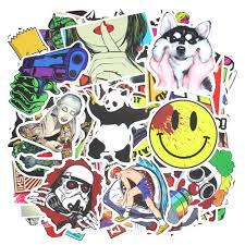 jdm panda sticker 100pcs car sticker bomb laptop travel case motorcycle bike