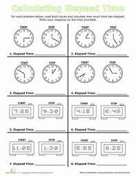 elapsed time worksheets 2nd grade worksheets
