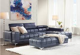 Sectional Sofas Rooms To Go by Shop For A Sofia Vergara Sybella Blue Blended Leather 4 Pc