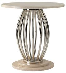 Nickel Table L Milan Barrel Side Table Side Tables Furniture Decorus Furniture