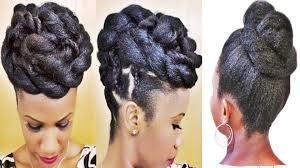 braids and twists updo hairstyle for black women youtube