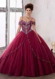 quinceanera dresses with straps modern spaghetti straps beading gown fuchsia