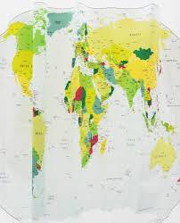 Shower Curtain World Map World Map Shower Curtain Eva Gizmos4u
