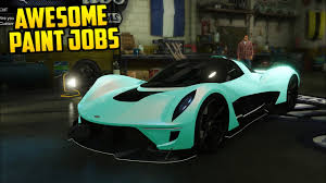7 awesome paint jobs for the vagner gta online youtube