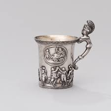 silver mug a russian silver mug silver p muller st petersburg 1830