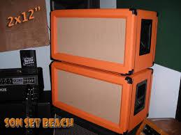 Orange Cabinet 4x12 Son Set Beach Ssb212 Original Custom 2x12