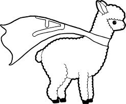 superman alpaca coloring wecoloringpage