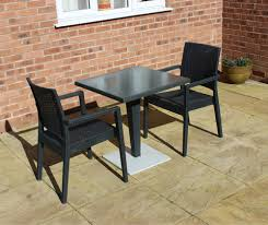 Square Pedestal Table Bistro Table Set For Cafes Balconies Square Table 2 Rattan