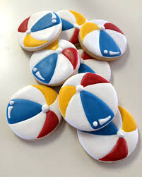 beach ball cookies byjune bug and moo red blue yellow nature