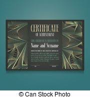 clip art vector of elegant certificate template for excellence