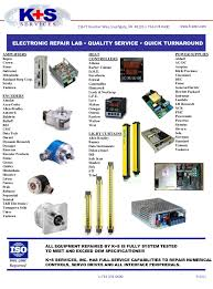 k s services inc automation repair line cards