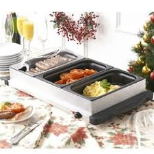 three tray electric buffet food warmer outdoor entertainment