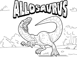 allosaurus coloring page dinosaur pinterest activities