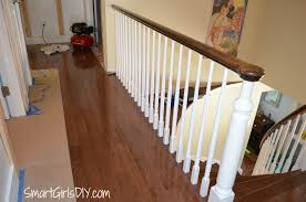Laminate Flooring Installation On Stairs Upstairs Hallway 2 Hardwood Spindles